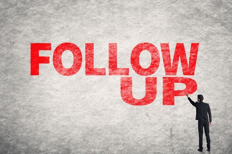 المتابعة: كيف تفوز بعملاء اكثر بخطوة واحدة بسيطة - Follow-up 8